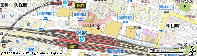 兵庫県姫路市駅前町周辺の地図