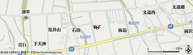 愛知県西尾市吉良町津平(平子)周辺の地図