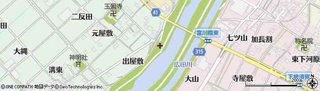 愛知県西尾市横手町(川西新田)周辺の地図