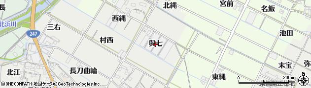 愛知県西尾市一色町開正(與七)周辺の地図