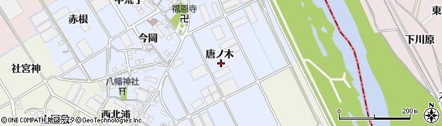 愛知県豊川市二葉町(唐ノ木)周辺の地図