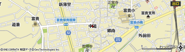 愛知県武豊町(知多郡)冨貴(中道)周辺の地図