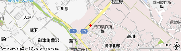 愛知県豊川市御津町広石(小前)周辺の地図