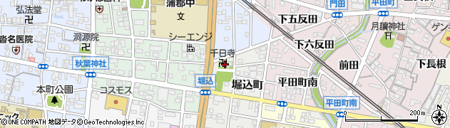 千日寺周辺の地図