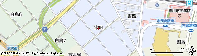愛知県豊川市八幡町(沖田)周辺の地図