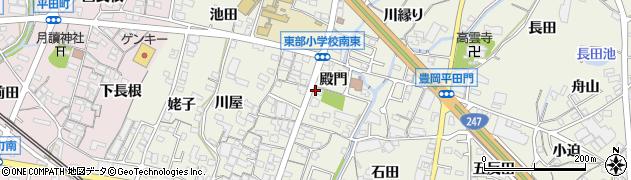 愛知県蒲郡市豊岡町(殿門)周辺の地図