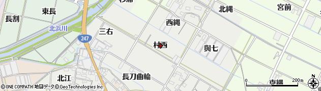 愛知県西尾市一色町開正(村西)周辺の地図