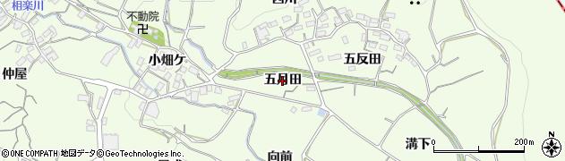 愛知県蒲郡市相楽町(五月田)周辺の地図