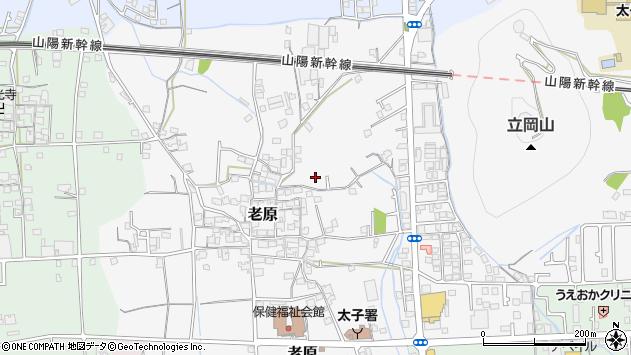 〒671-1553 兵庫県揖保郡太子町老原の地図