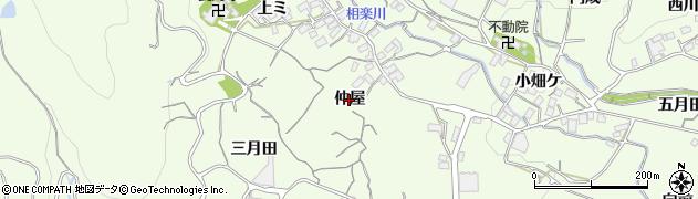 愛知県蒲郡市相楽町(仲屋)周辺の地図