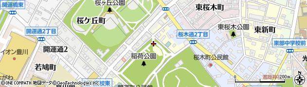 愛知県豊川市緑町周辺の地図