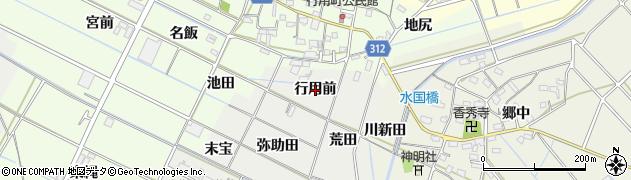 愛知県西尾市一色町開正(行用前)周辺の地図