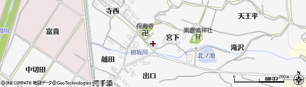 愛知県豊橋市石巻小野田町(宮下)周辺の地図