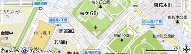 愛知県豊川市桜ケ丘町周辺の地図