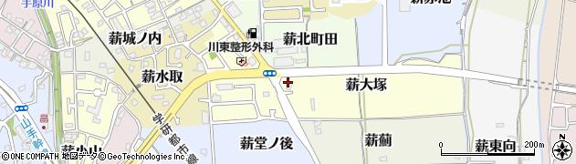 京都府京田辺市薪大塚周辺の地図