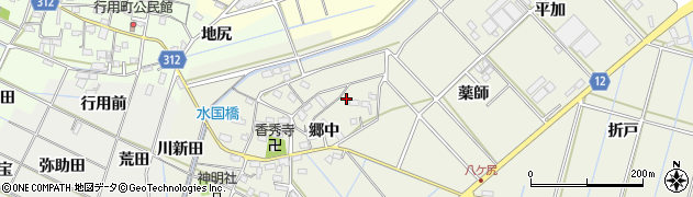 愛知県西尾市八ケ尻町周辺の地図