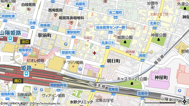 〒670-0935 兵庫県姫路市北条口の地図
