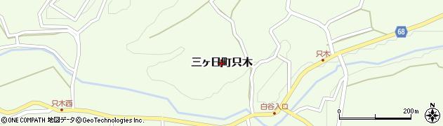 静岡県浜松市北区三ヶ日町只木周辺の地図