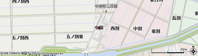 愛知県西尾市中根町(中根)周辺の地図