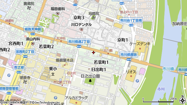 〒670-0825 兵庫県姫路市市川橋通の地図