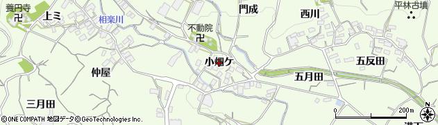 愛知県蒲郡市相楽町(小畑ケ)周辺の地図