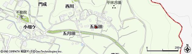 愛知県蒲郡市相楽町(五反田)周辺の地図
