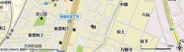 愛知県豊川市谷川町(洞)周辺の地図
