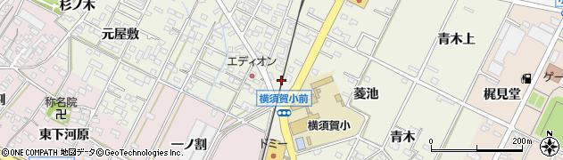 愛知県西尾市吉良町上横須賀(上菱池)周辺の地図