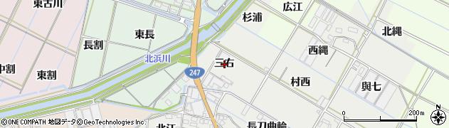愛知県西尾市一色町開正(三右)周辺の地図