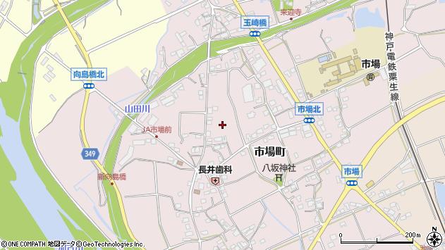 〒675-1327 兵庫県小野市市場町の地図