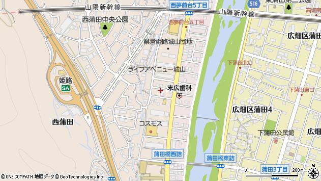 〒671-1108 兵庫県姫路市広畑区城山町の地図