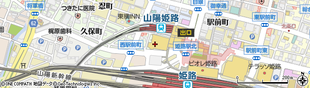 兵庫県姫路市西駅前町周辺の地図