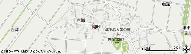 愛知県西尾市吉良町津平(前田)周辺の地図