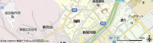 愛知県豊川市国府町(仙路)周辺の地図