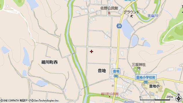 〒673-0713 兵庫県三木市細川町豊地の地図