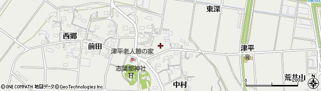愛知県西尾市吉良町津平(中谷)周辺の地図