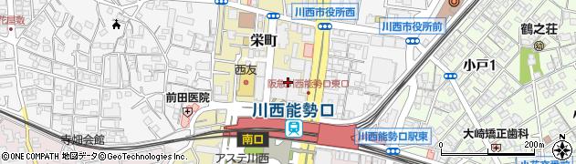 城周辺の地図