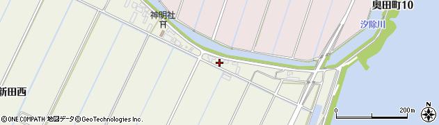 愛知県西尾市南奥田町周辺の地図