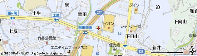 愛知県蒲郡市竹谷町(松本)周辺の地図