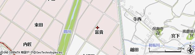 愛知県豊橋市賀茂町(富貴)周辺の地図