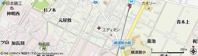愛知県西尾市吉良町上横須賀(五反田)周辺の地図