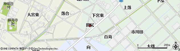愛知県西尾市野々宮町(間尻)周辺の地図