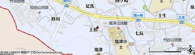 愛知県蒲郡市竹谷町(上松)周辺の地図