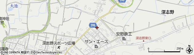 兵庫県姫路市御国野町(深志野)周辺の地図