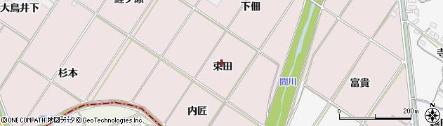 愛知県豊橋市賀茂町(束田)周辺の地図