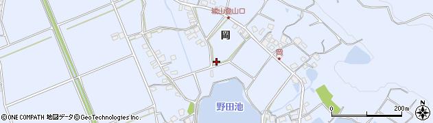兵庫県加古川市志方町(岡)周辺の地図