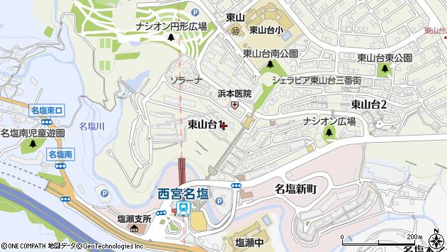 〒669-1133 兵庫県西宮市東山台の地図