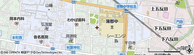 愛知県蒲郡市新井町周辺の地図