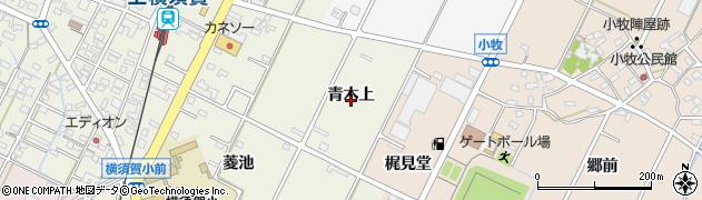愛知県西尾市吉良町上横須賀周辺の地図
