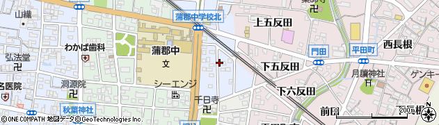 愛知県蒲郡市新井形町(野添)周辺の地図